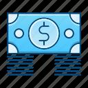 bundle, cash, money, paper icon