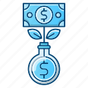 growth, investments, making, money icon