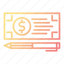 bank, banking, check, payment icon