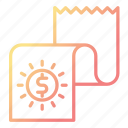 banking, document, financial, report icon