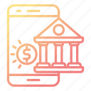 banking, business, mobile, online, payment icon