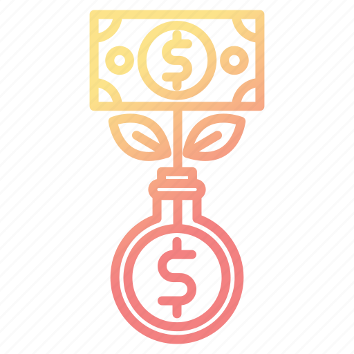 banking, growth, investments, making, money icon