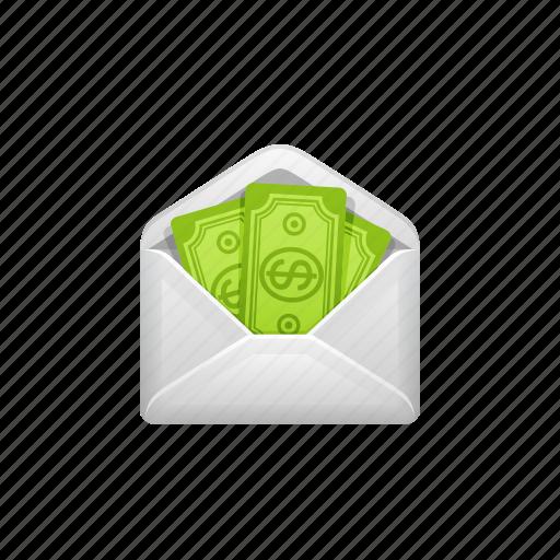 bribe, cash, envelope, money, payment, tax icon