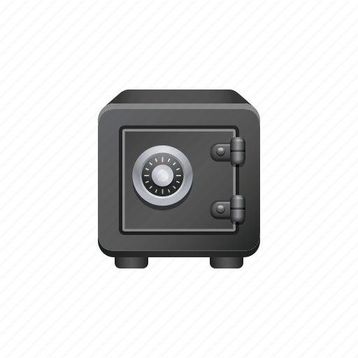 combination lock, safe, security, vault icon