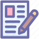archive, document, file, page, paper, pen icon