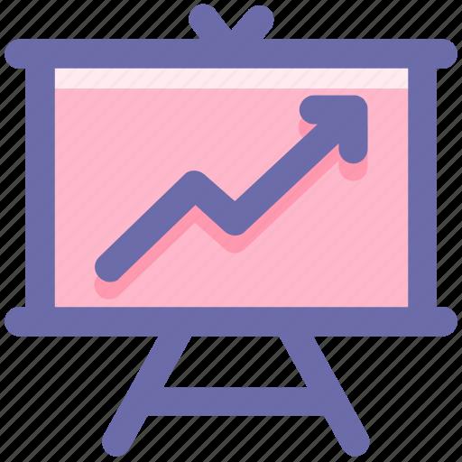 analysis, analytics, board, finance, financial, graph icon