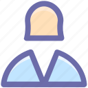 avatar, book keeper, female, profile, staff, user icon