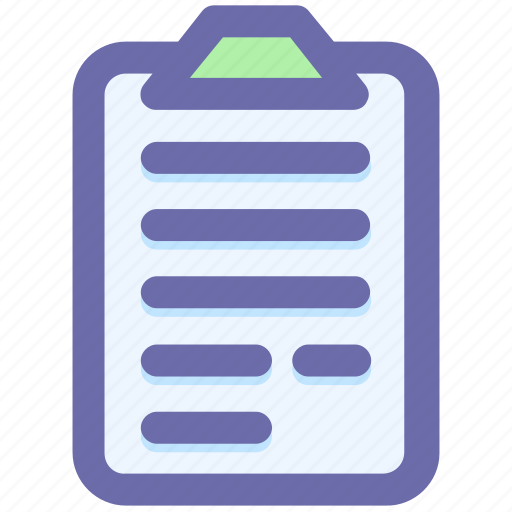 clipboard, contract, documents, file, papers, sheet icon