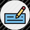 bank check, bank check book, check, check book, payment icon