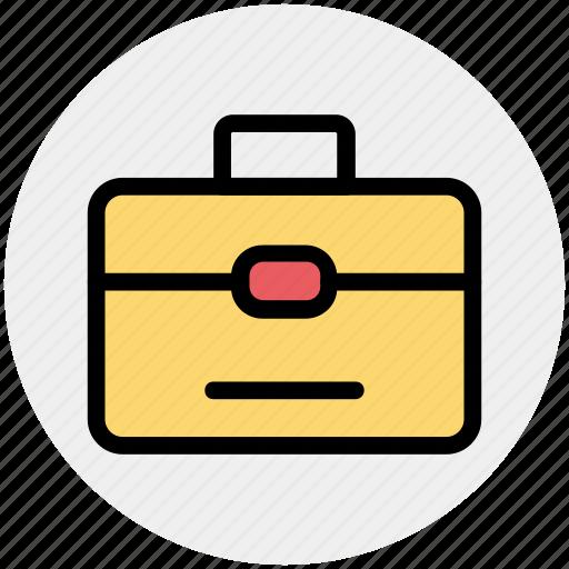 bag, bank, business, finance, money, office bag, school bag icon