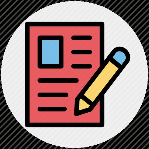 archive, document, file, page, paper, pen icon