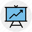 analysis, analytics, board, finance, financial, graph icon