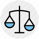balance, banking and finance, business, justice, law, modern, scales icon