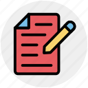 banking, contract, documents, file, paper, pen, sheet icon