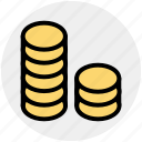 bank, banking, business, coins, finance, marketing icon