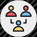 man, men, networking, social, staff, team, users icon