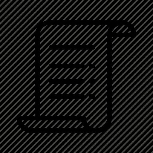certificate, checklist, document, paper, statement icon