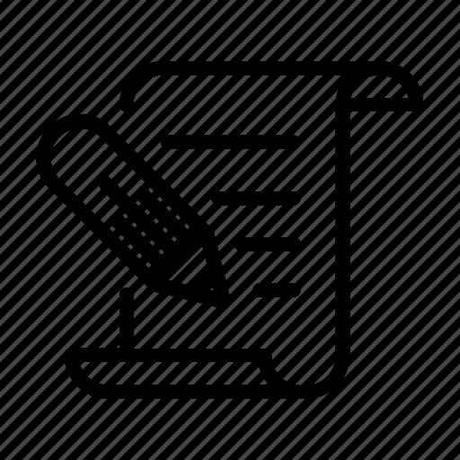 approve, document, pencil, sign, singature, transaction icon