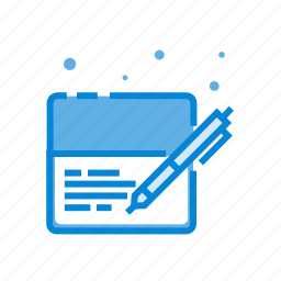bank, banking, check, credit, payment, pen icon