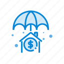 estate, finance, insurance, money, property icon