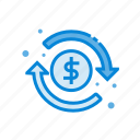 best, dollar, finance, money, refund icon
