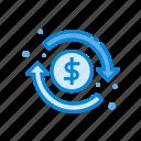 best, dollar, finance, money, refund icon