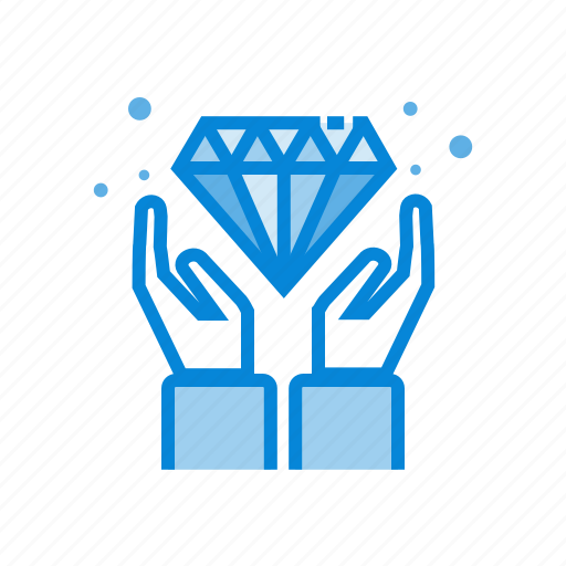diamond, gemstone, hands, value icon