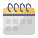 calendar, date, daybook, yearbook, appointment icon