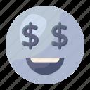 dollar, eyes, dollar eyes, emoji, emoticon, emotag, greedy emoji