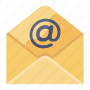 electronic, mail, electronic mail, email, open message, opened envelope, cv letter icon