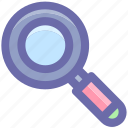 finding, magnifier, magnifying glass, search, search glass, searching tool, zoom icon