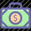 bag, bank, business, dollar, dollar bag, money, office bag icon