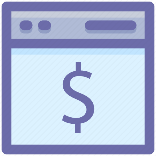 Computer page, design, dollar, page, web, web page icon - Download on Iconfinder