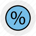 divided, percentage, percentage sign, present, sell, sign, symbols icon