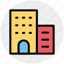 apartment, bank, building, business, house, office icon
