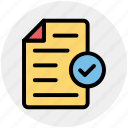 approve, confirm, document, file, page, paper, sheet