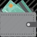 billfold wallet, card holder, card holder wallet, card in wallet, cash in wallet, credit card wallet, purse