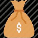 currency sack, dollar sack, earning bag, earning wallet, money bag, money sack, wealth