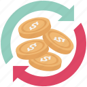 currency initializing, currency rate, processing, refresh currency icon