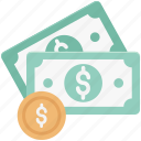cash, coin, currency coin, dollar coin, finance, money, wealth icon