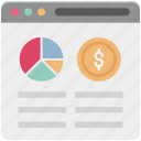 bar chart, monitor, online analytics, online graph, online infographics icon
