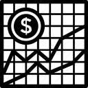 business chart, economy graph, graph, line graph, statistics icon
