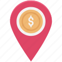 bank location, gps, location marker, location pin, location pointer, map locator, map pin icon