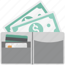 cash wallet, full cash, full cash in wallet, full money in wallet icon