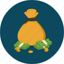 bag, cash, coin, money, money bag, profit, saving icon