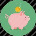 bank, coin, finance, mini bank, pig, piggy bank, saving icon