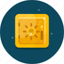 bank, finance, locker, money, safe, saving, secure icon