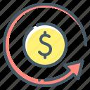 chargeback, chargeback claim, claim, money icon