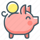 bank, money, piggy, piggy bank, piggy bank money, saving icon