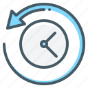 clock, history, transaction, transaction history icon